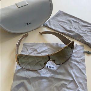 Dior Gold Crystal Embellished Sunglasses